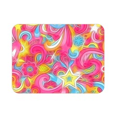 Hippy Peace Swirls Double Sided Flano Blanket (mini)