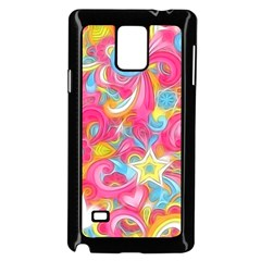 Hippy Peace Swirls Samsung Galaxy Note 4 Case (black)
