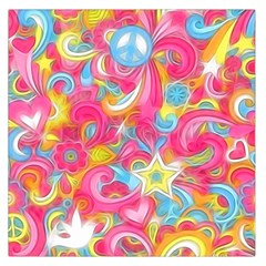 Hippy Peace Swirls Large Satin Scarf (Square)