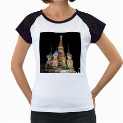 Saint Basil s Cathedral  Women s Cap Sleeve T Shirt (white)