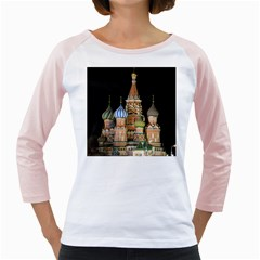 Saint Basil s Cathedral  Women s Long Cap Sleeve T-Shirt (White)