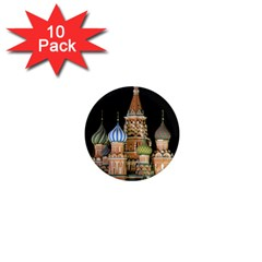 Saint Basil s Cathedral  1  Mini Button Magnet (10 Pack)