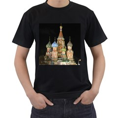 Saint Basil s Cathedral  Men s Two Sided T-shirt (Black)