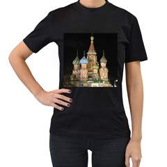 Saint Basil s Cathedral  Women s Two Sided T-shirt (Black)