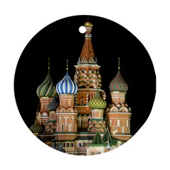 Saint Basil s Cathedral  Round Ornament (two Sides)