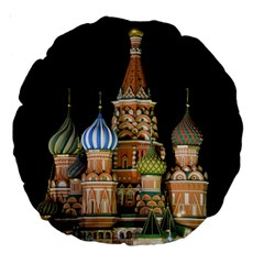 Saint Basil s Cathedral  Large 18  Premium Round Cushion