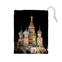 Saint Basil s Cathedral  Drawstring Pouch (Large)