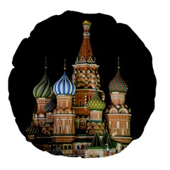 Saint Basil s Cathedral  Large 18  Premium Flano Round Cushion