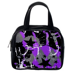 Purple Scene Kid Classic Handbag (one Side)