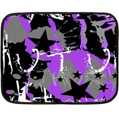 Purple Scene Kid Mini Fleece Blanket (two Sided)