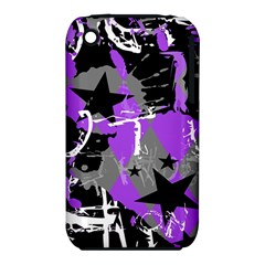Purple Scene Kid Apple Iphone 3g/3gs Hardshell Case (pc+silicone)