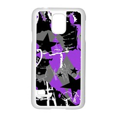 Purple Scene Kid Samsung Galaxy S5 Case (White)