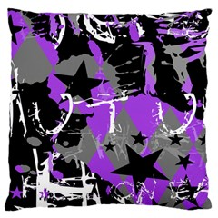 Purple Scene Kid Large Flano Cushion Case (Two Sides)