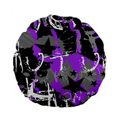 Purple Scene Kid Standard 15  Premium Flano Round Cushion