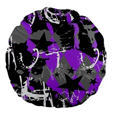 Purple Scene Kid Large 18  Premium Flano Round Cushion