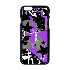 Purple Scene Kid Apple Iphone 6 Black Enamel Case