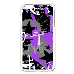Purple Scene Kid Apple iPhone 6 Plus Enamel White Case