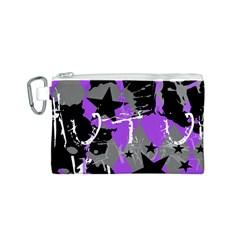 Purple Scene Kid Canvas Cosmetic Bag (small)