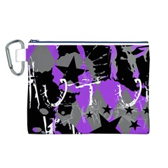 Purple Scene Kid Canvas Cosmetic Bag (Large)