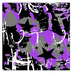 Purple Scene Kid Large Satin Scarf (Square)