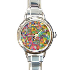 Colorful Autumn Round Italian Charm Watch