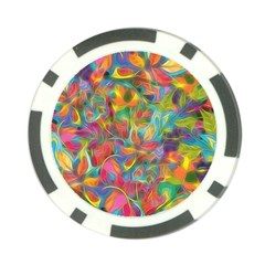 Colorful Autumn Poker Chip
