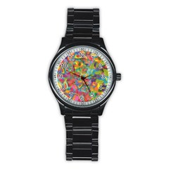 Colorful Autumn Sport Metal Watch (black)