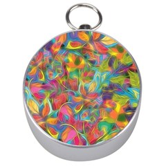 Colorful Autumn Silver Compass
