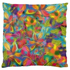 Colorful Autumn Large Flano Cushion Case (One Side)