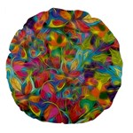 Colorful Autumn Large 18  Premium Flano Round Cushion  Back