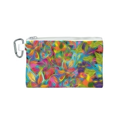 Colorful Autumn Canvas Cosmetic Bag (Small)