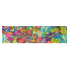 Colorful Autumn Satin Scarf (Oblong)