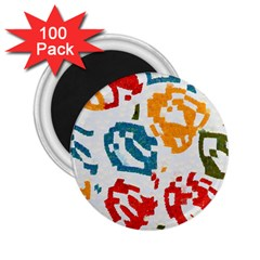 Colorful Paint Stokes 2 25  Magnet (100 Pack)