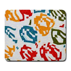 Colorful Paint Stokes Large Mousepad