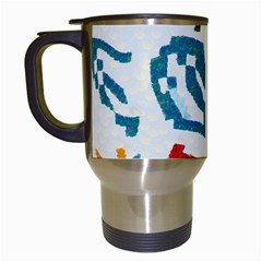 Colorful Paint Stokes Travel Mug (white)