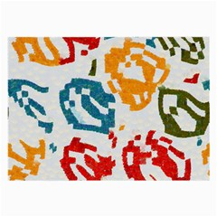 Colorful Paint Stokes Large Glasses Cloth