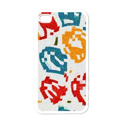 Colorful Paint Stokes Apple Iphone 4 Case (white)