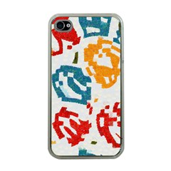 Colorful Paint Stokes Apple Iphone 4 Case (clear)