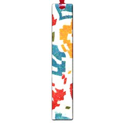 Colorful Paint Stokes Large Book Mark
