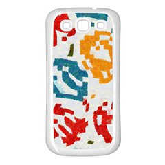 Colorful Paint Stokes Samsung Galaxy S3 Back Case (white)