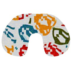 Colorful paint stokes Travel Neck Pillow