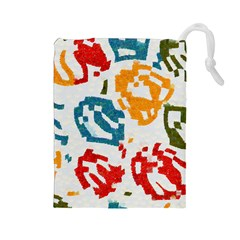 Colorful Paint Stokes Drawstring Pouch