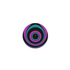 Distorted Concentric Circles 1  Mini Magnet