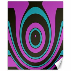 Distorted Concentric Circles Canvas 11  X 14
