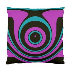 Distorted Concentric Circles Standard Cushion Case (two Sides)