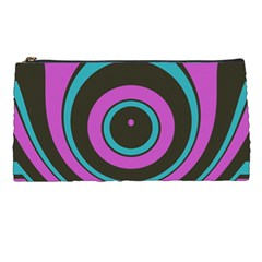 Distorted Concentric Circles Pencil Case