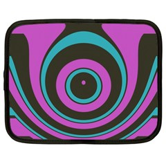 Distorted Concentric Circles Netbook Case (xxl)
