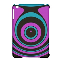 Distorted Concentric Circles Apple Ipad Mini Hardshell Case (compatible With Smart Cover)