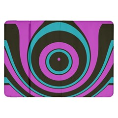 Distorted Concentric Circles Samsung Galaxy Tab 8 9  P7300 Flip Case