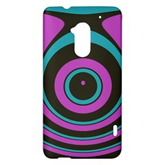 Distorted concentric circles HTC One Max (T6) Hardshell Case